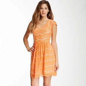 Kenzie Orange Lace Dress